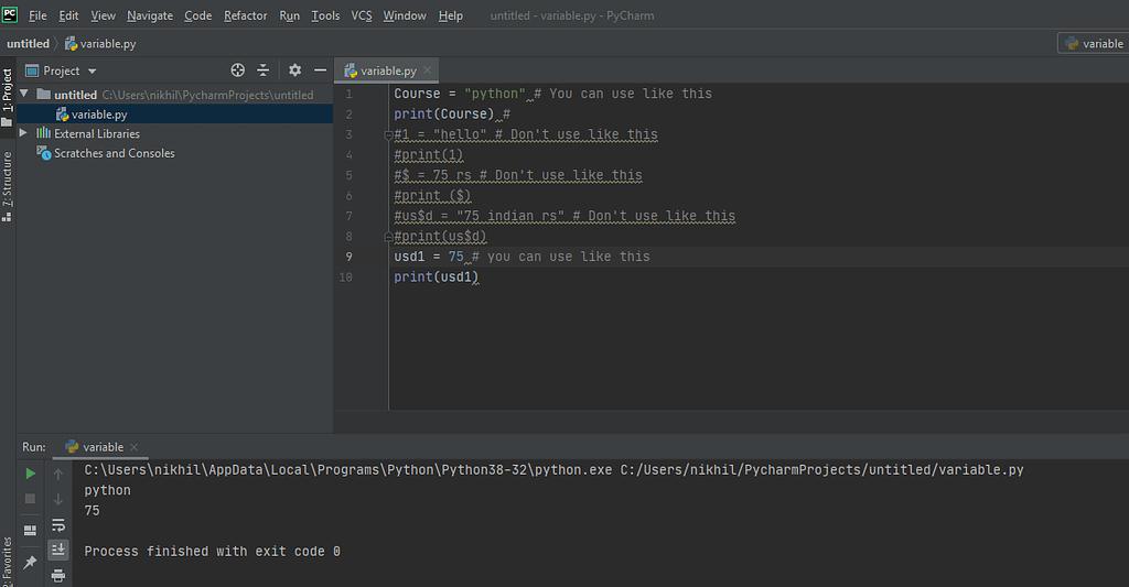 Variable Python