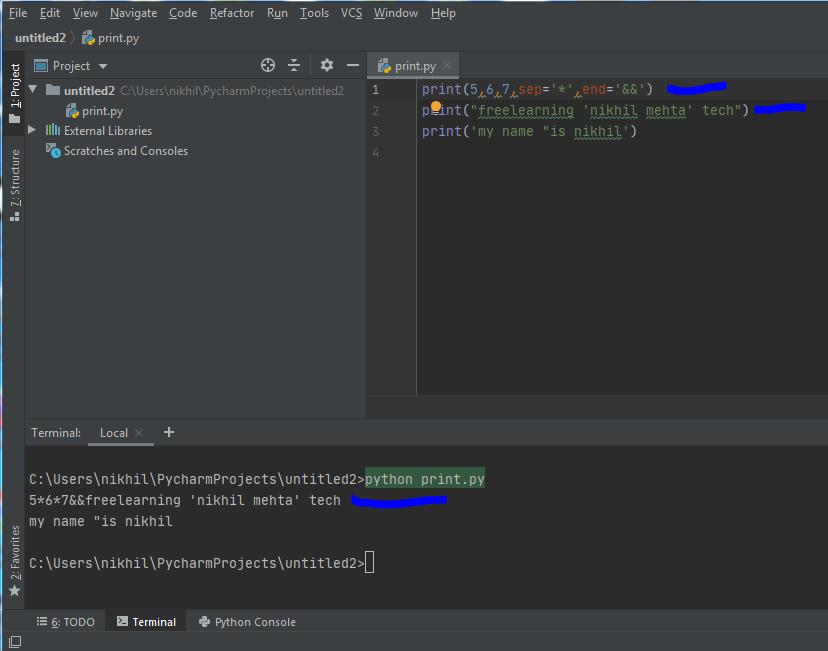 Print Function Python